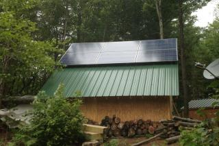 Solar in the woods of Degrasse